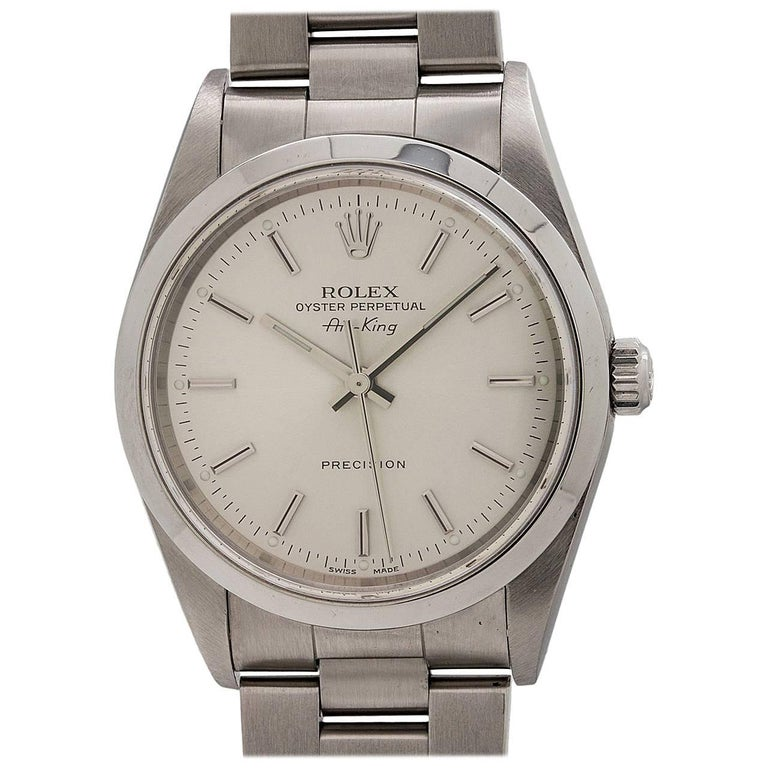Rolex Stainless Steel Oyster Perpetual Airking Self Winding Wristwatch