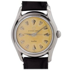 Eterna Stainless Steel Eternamatic Self Winding Wristwatch, circa 1950s