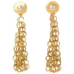 Orlandini Circles Drop Earrings with Diamonds