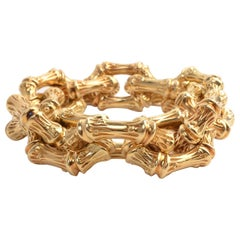 Tiffany & Co. Interlocking Bamboo Design Gold Bracelet