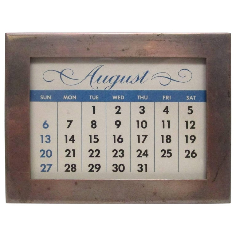 Sterling Silver Perpetual Desk Calendar For