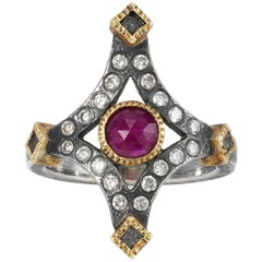 Todd Reed Faceted Ruby Ring