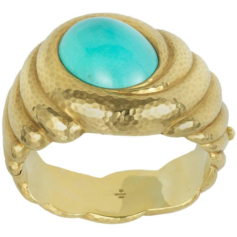 Cabochon Turquoise Cuff Bracelet