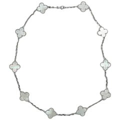 Van Cleef & Arpels Alhambra Mother-of-Pearl White Gold Necklace