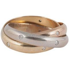 Cartier Diamond Set Triple Wedding Band
