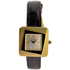 Neiman Marcus Ladies Yellow Gold Moderne Style Manual Watch