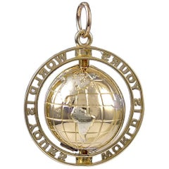Gold World Is Yours Globe Charm