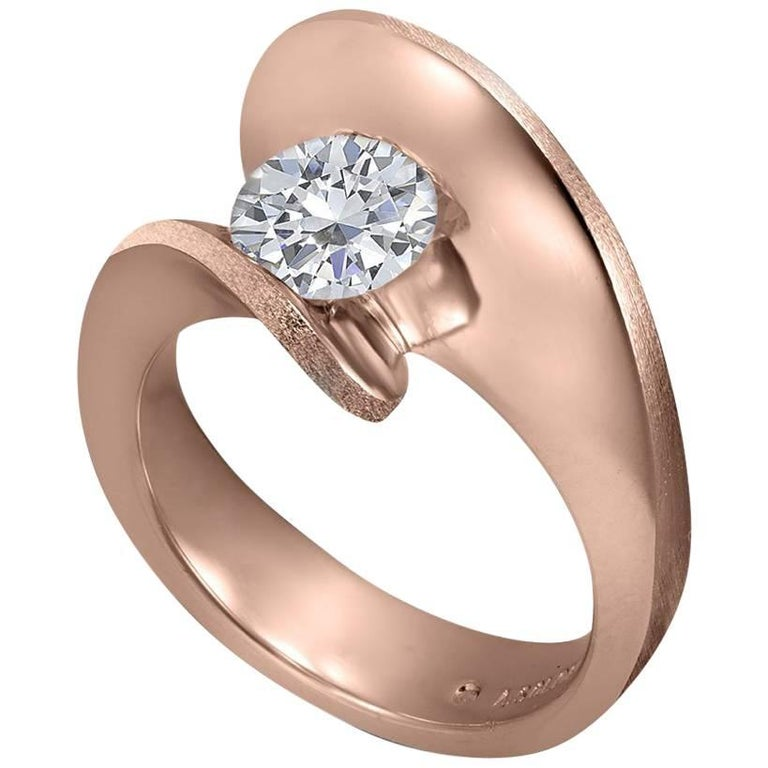 Alex Soldier Dance of Life Diamond Rose Gold Engagement Ring One of a Kind 1