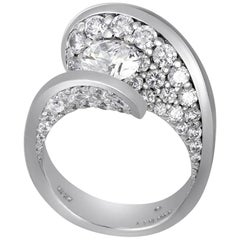 1.2 Carat D Color Internally Flawless GIA Certified Diamond Gold Engagement Ring
