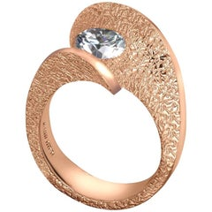 1 Carat Diamond Alex Soldier Dance of Life Diamond Rose Gold Ring One of a Kind