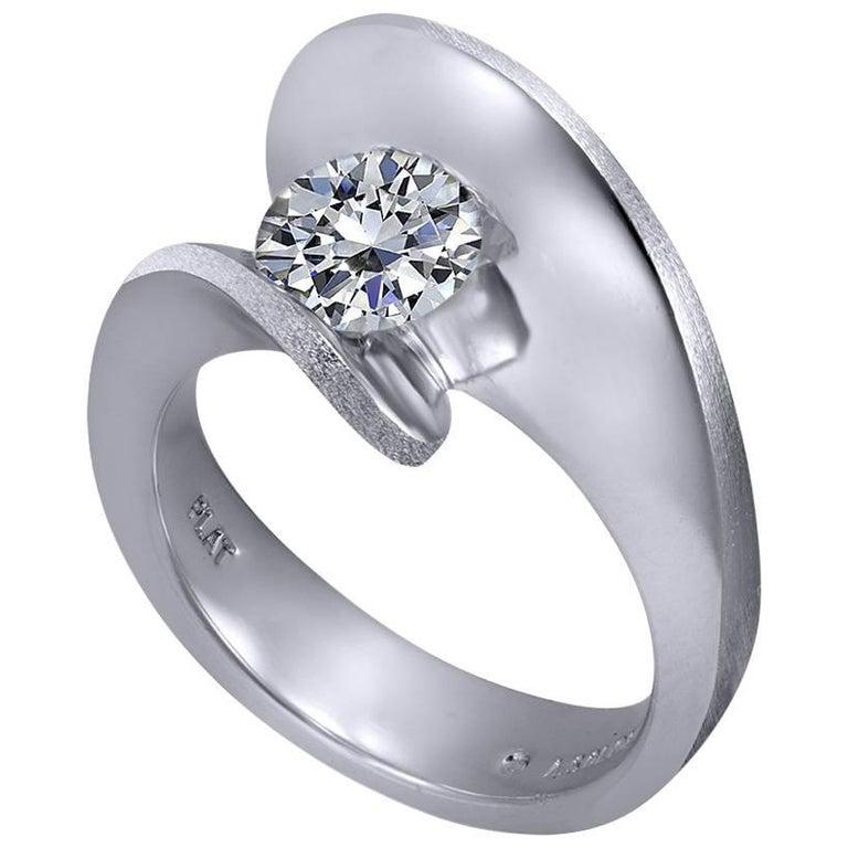 1 Carat Diamond Alex Soldier Dance of Life Diamond White Gold Engagement Ring