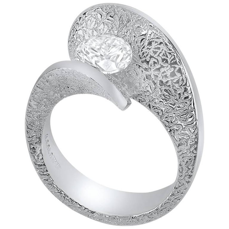 Alex Soldier Dance of Life Diamond White Gold Ring One of ...