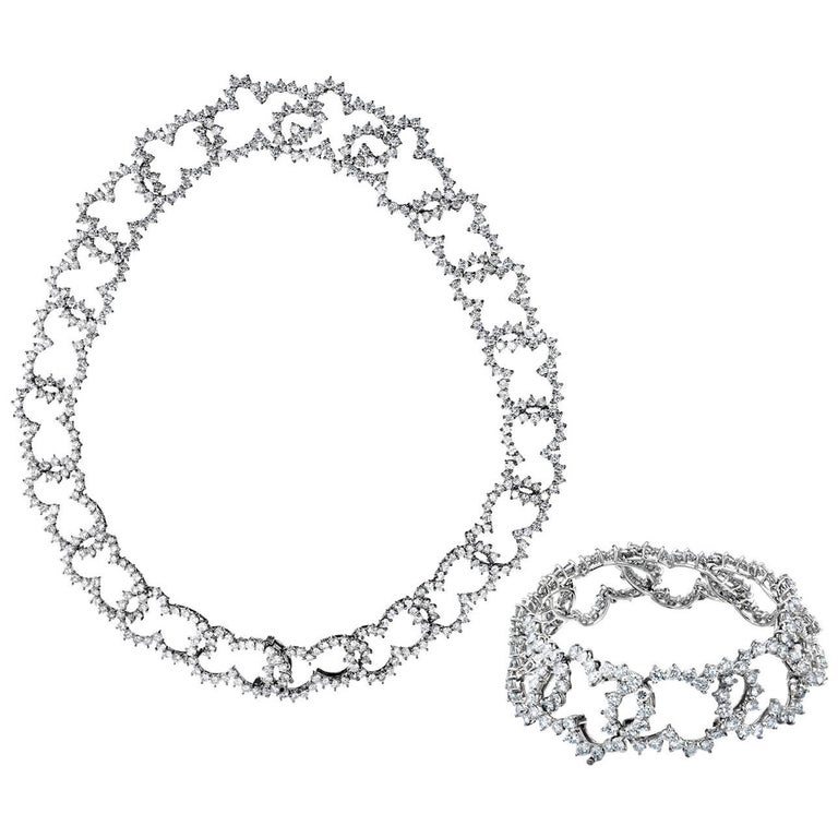 Angela Cummings Bergdorf Goodman Diamond Necklace and Bracelet