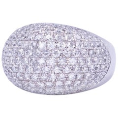 Dramatic Pave Diamond Bombe Ring
