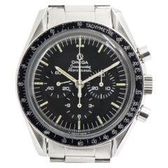 Omega Stainless Steel Speedmaster Chronograph Moonwatch Mens Wristwatch