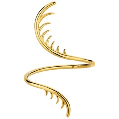 Luke Rose Open Cuff Bangle in Yellow Gold