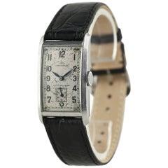IWC Stainless Steel Rare Art Deco Rectangular Cal 87 Wristwatch, 1937