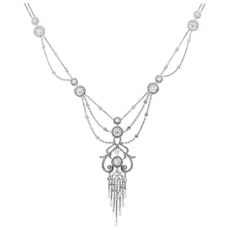Diamond Chandelier Necklace