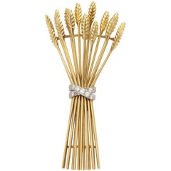 Tiffany & Co. Gold and Diamond Sheaf Pin