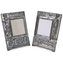 Pair of Art Nouveau Large Photograph Frames, Germany, circa 1900