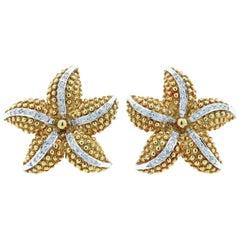 Fine Diamond Starfish Earrings