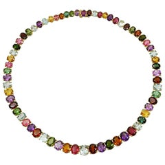 H. Stern Multi-Color Gemstone Yellow Gold Necklace