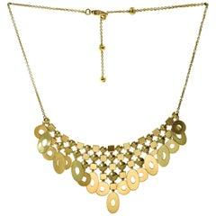 Bulgari Lucea Yellow Gold Chandelier Bib Necklace