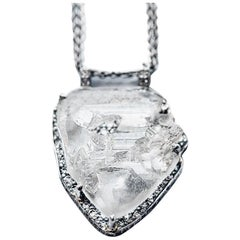 Marisa Perry Micro Pave Contemporary Rough Diamond Pendant in Platinum
