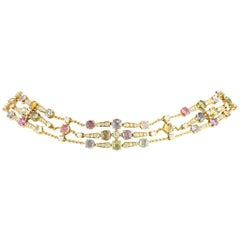 Bulgari Rosette Yellow Gold Multi-Gemstone Choker
