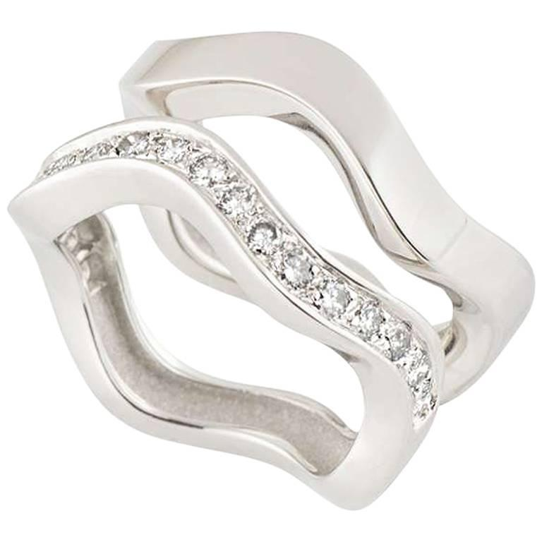 Cartier White Gold Stacker Rings