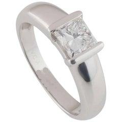 Van Cleef & Arpels White Gold Diamond Ring 1.01 Carat