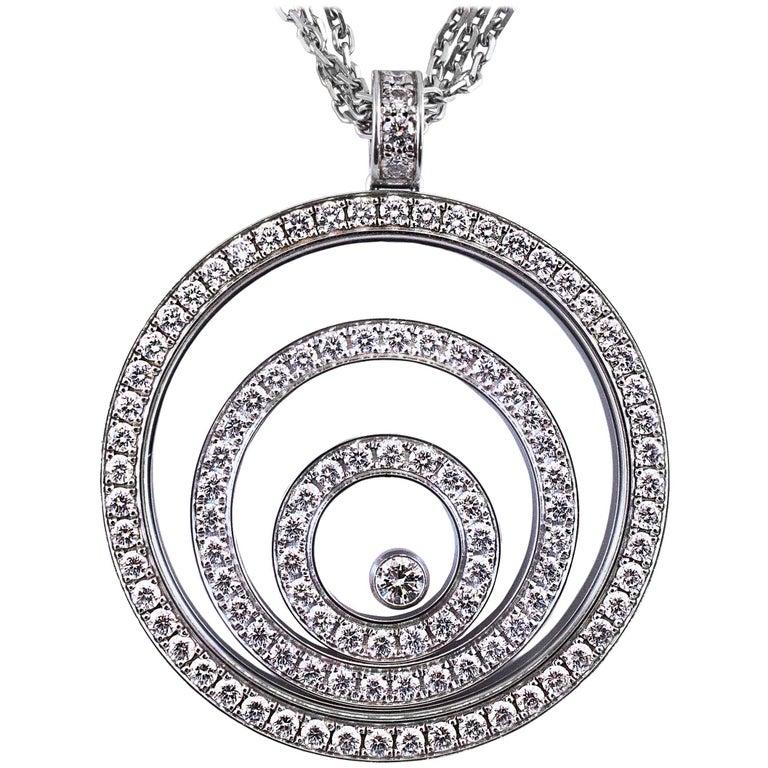 Chopard Happy Spirit Diamond Pendant Necklace