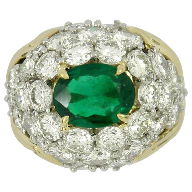 Brilliantly Captivating Emerald and Diamond Ring