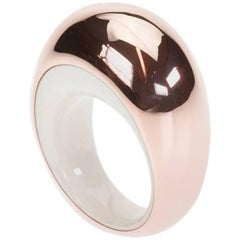 "Vhernier 18 Karat Rose Gold ""Cappuccio"" Ring in Kogolong"