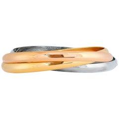 Cartier Tri Color Gold Triple Bangle