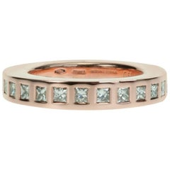 "Chic Vhernier 18 Karat Rose Gold and Diamond ""Rewind One"" Stackable Band"