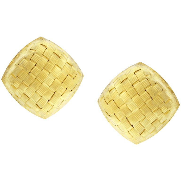 Roberto Coin Basket Weave Earrings