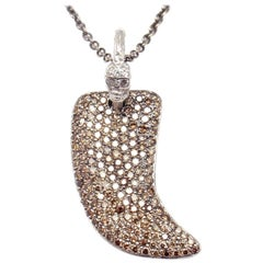 Loree Rodkin Claw Diamond Gold Pendant Necklace from Estate of Jackie Collins