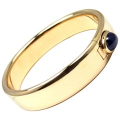 Pomellato Cabochon Sapphire Yellow Gold Bangle Bracelet