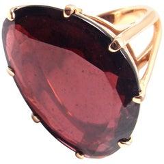 Annoushka Large Garnet Rose Gold Ring