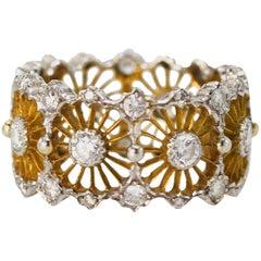Buccellati Diamond Two-Tone Gold Band Ring