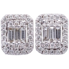 Diamonds Clusters Studs Earrings