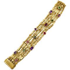 Seidengang Multistone Gold Link Bracelet