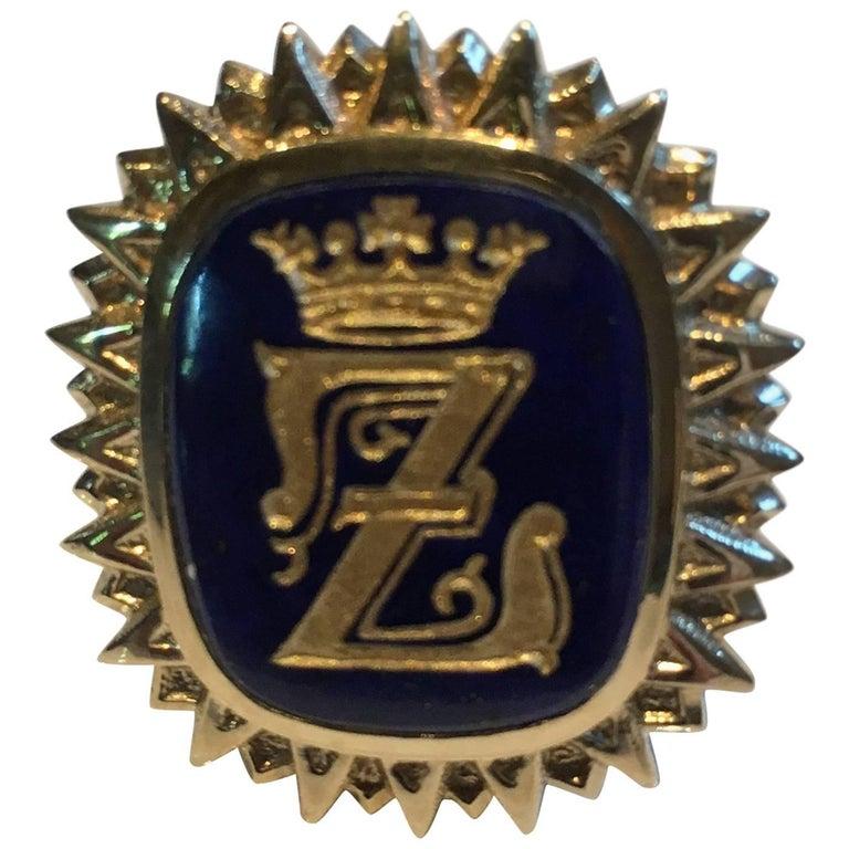 Lapis Lazuli Crown Ring