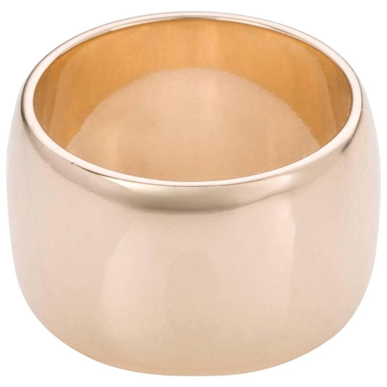 Yellow Gold Wide Band