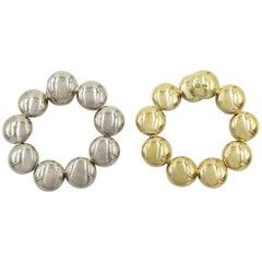 Cartier Gold Hoop Earrings
