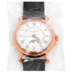 Patek Philippe Rose Gold Retrograde Perpetual Calendar Automatic Wristwatch