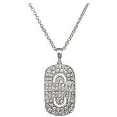 Bulgari Parentesi Necklace  Diamond Pendant and Chain