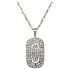 Bulgari Parentesi Necklace  Diamond Pendant and Chain