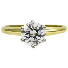 GIA Report Tiffany & Co. 0.76 Carat Diamond Solitaire Engagement Ring